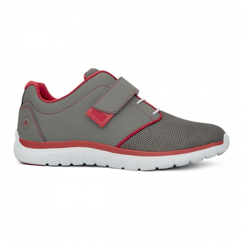 Men-No-46-Sport-Jogger-Velcro-GreyRed-Lateral