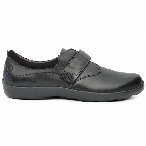 Women-No-67-Casual-Comfort-Velcro-Black-Lateral