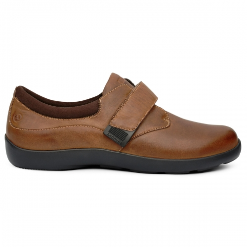 Women-No-67-Casual-Comfort-Velcro-Chocolate-Lateral